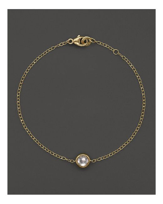 Ippolita - Metallic 18k Gold Mini-lollipop Bracelet In Clear Quartz - Lyst