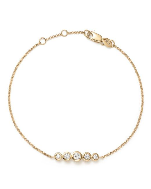 KC Designs - 14k Yellow Gold Diamond Bezel Bracelet - Lyst