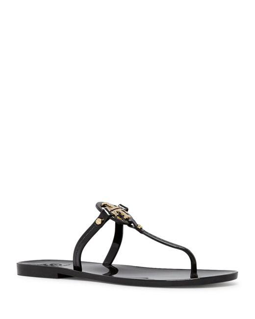 81ecc84a9486c9 Tory Burch - Metallic Mini Miller Jelly Flat Thong Sandals - Lyst ...