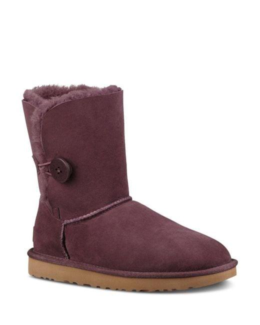 Ugg - Purple Bailey Button Sheepskin Booties - Lyst