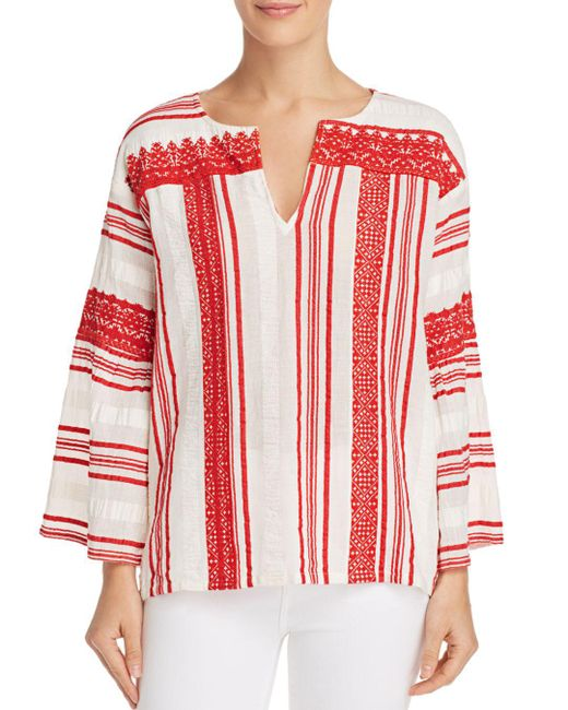 Joie - Red Selbea Striped Tunic Top - Lyst