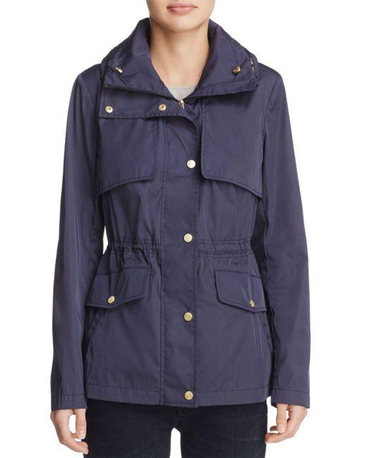 Cole Haan - Blue Rain Jacket - Lyst
