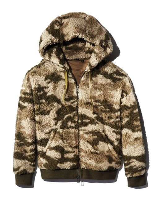 ATM - Green Camo Sherpa Jacket - Lyst