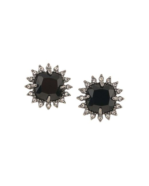 Carolee - Black Cushion Clip-on Earrings - Lyst
