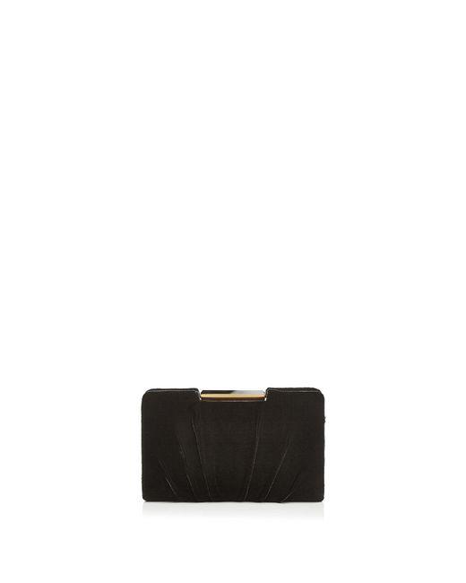 Sondra Roberts | Black Frame Pleated Velvet Clutch | Lyst