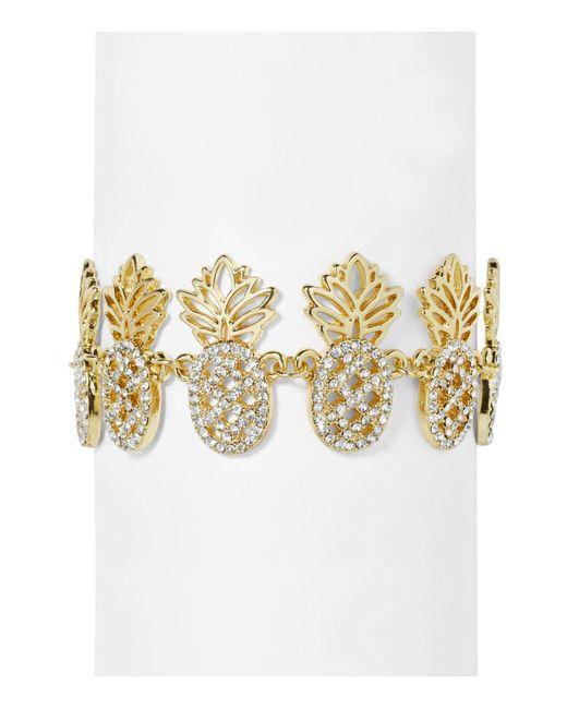 BaubleBar - Metallic Colada Pavé Pineapple Bracelet - Lyst