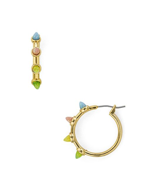 Rebecca Minkoff | Metallic Rainbow Spear Hoop Earrings | Lyst