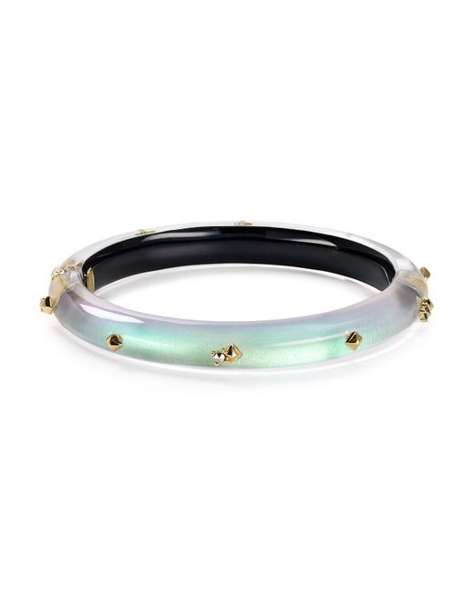 Alexis Bittar | Multicolor Golden Studded Hinge Bangle | Lyst