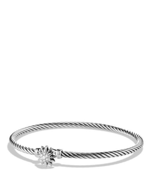 David Yurman - Metallic Starburst Single-station Cable Bracelet With Diamonds - Lyst