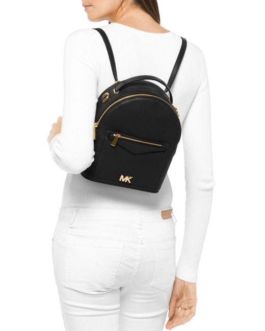 7f3faf32bdfe ... MICHAEL Michael Kors - Black Jessa Small Convertible Leather Backpack -  Lyst ...