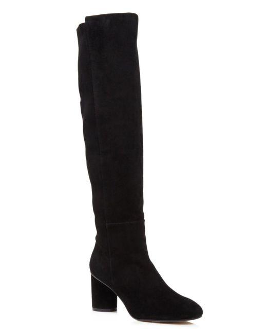 Stuart Weitzman - Black Women's Eloise 75 Almond Toe Suede Boots - Lyst