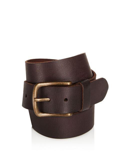 John Varvatos - Brown Leather Belt for Men - Lyst