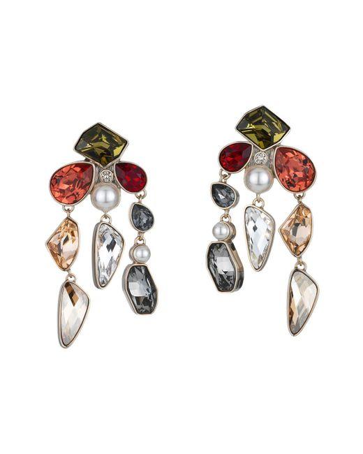 Atelier Swarovski | Metallic Mosaic Clip-on Earrings | Lyst