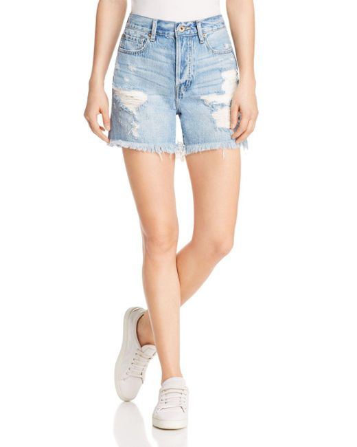 Pistola - Devin Mom Cutoff Denim Shorts In Savage Blue - Lyst