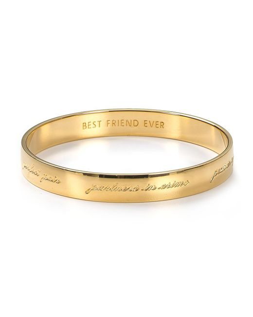 Kate Spade | Metallic Bridesmaid Engraved Idiom Bangle | Lyst