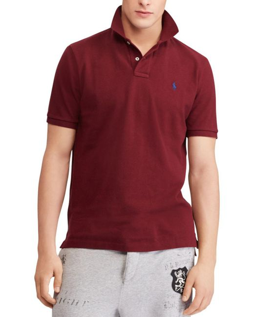 Polo Ralph Lauren - Red Polo Classic Fit Mesh Polo Shirt for Men - Lyst