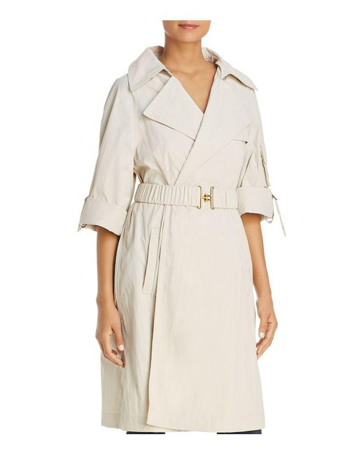 Donna Karan - Natural Belted Trench Coat - Lyst