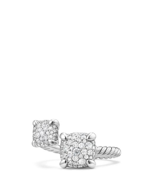 David Yurman - Metallic Chatelaine Bypass Ring With Diamonds - Lyst