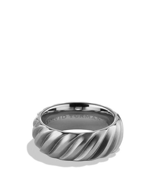 David Yurman | Gray Modern Cable Band Ring | Lyst