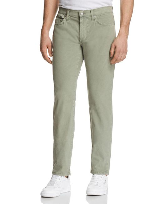 Joe's Jeans - Green Brixton Straight Fit Twill Pants for Men - Lyst