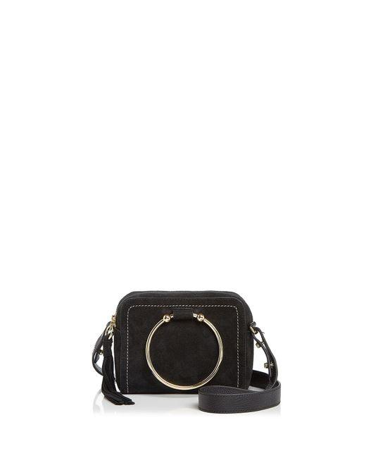 MILLY   Black Astor Suede Camera Bag   Lyst