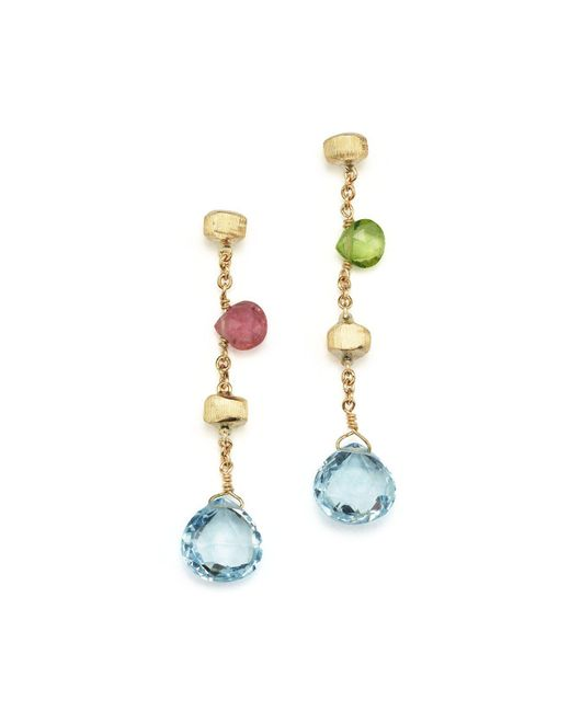Marco Bicego - Multicolor 18k Yellow Gold Paradise Drop Earrings - Lyst