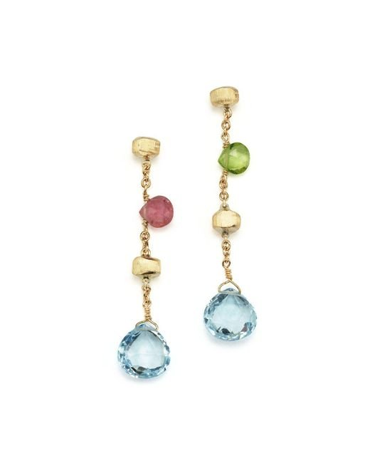 Marco Bicego | Multicolor 18k Yellow Gold Paradise Drop Earrings | Lyst
