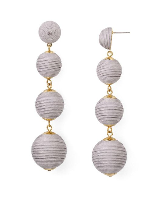 Aqua | Metallic Margot Ball Drop Earrings | Lyst