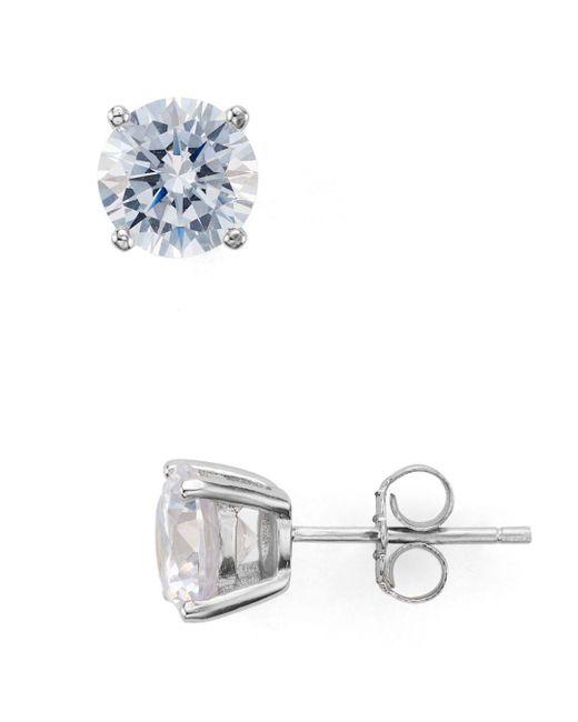 Aqua - Metallic Stud Earrings - Lyst
