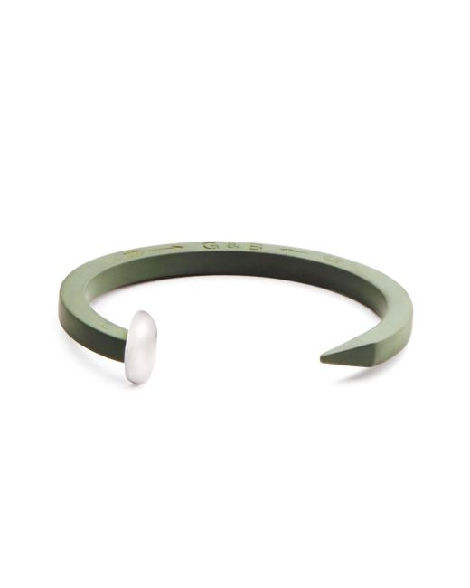 Giles & Brother | Green Rubberized Railroad Spike Cuff | Lyst