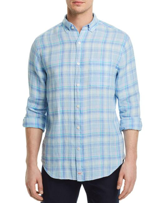 Vineyard Vines - Blue Moore's Island Plaid Regular Fit Button-down Shirt for Men - Lyst