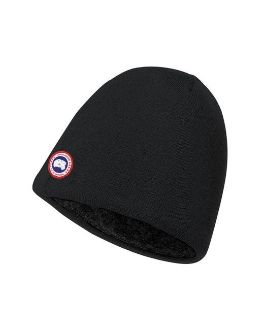 Canada Goose | Black Merino Wool Beanie for Men | Lyst
