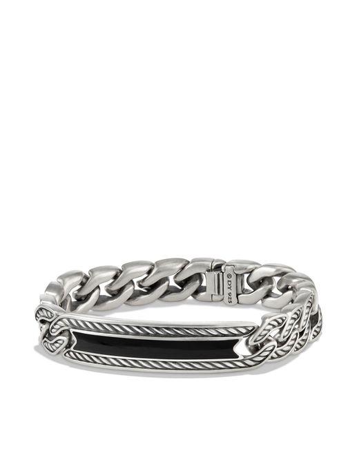David Yurman - Metallic Maritime Curb Link Id Bracelet With Black Onyx for Men - Lyst