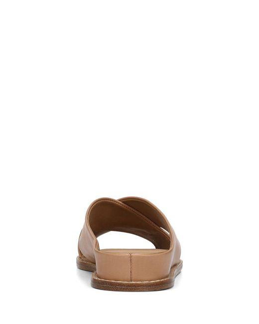 e834e19ea7e Lyst - Vince Women s Fairley Leather Slide Sandals in Black