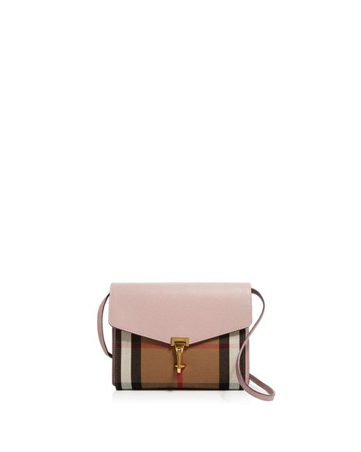 Burberry - Multicolor Macken House Check Small Crossbody - Lyst
