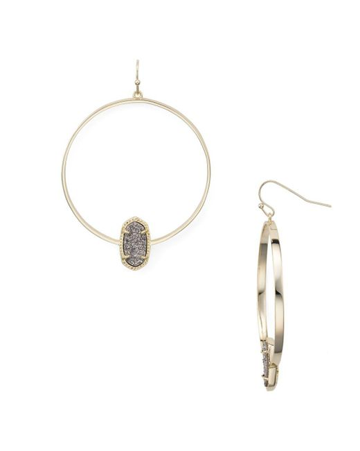 Kendra Scott - Metallic Elora Loop Drop Earrings - Lyst