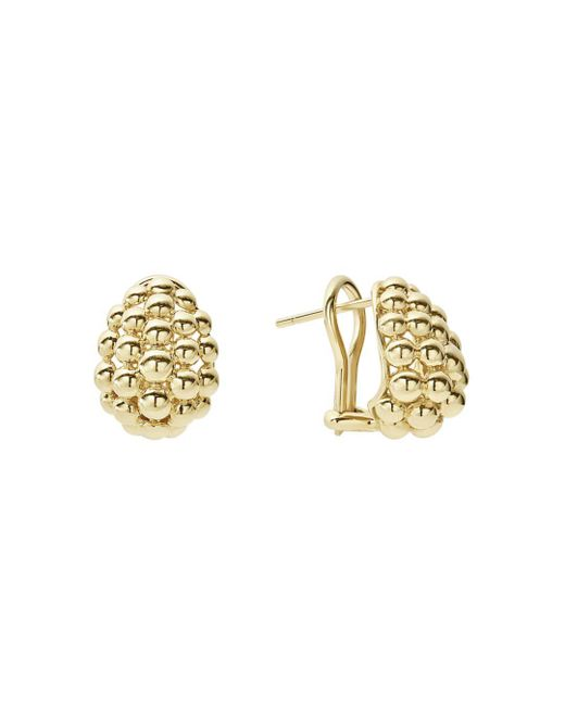 Lagos - Metallic Caviar Gold Collection 18k Gold Domed Huggie Earrings - Lyst