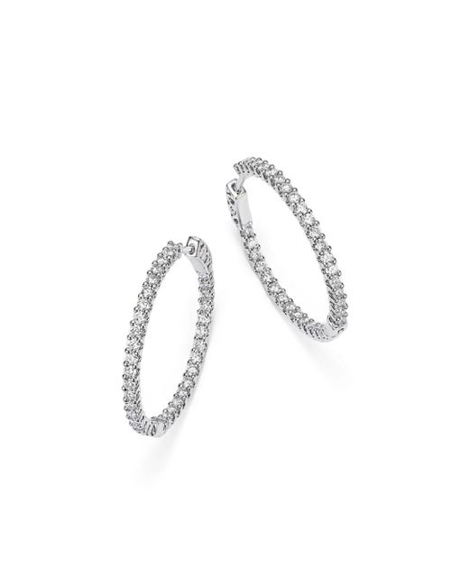 Bloomingdale's - Diamond Inside Out Hoop Earrings In 14k White Gold, 1.50 Ct. T.w. - Lyst