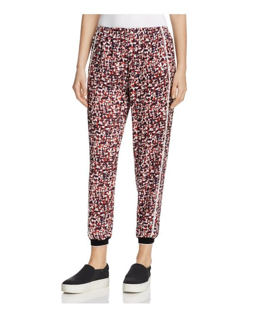 DKNY | Red Printed Jogger Pants | Lyst