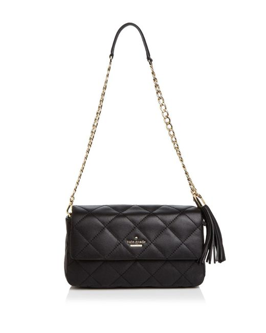 Kate Spade | Black Emerson Place Serena Leather Shoulder Bag | Lyst