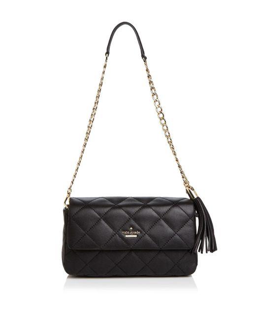 Kate Spade | Black Emerson Place Serena Leather Shoulder Bag | Lyst