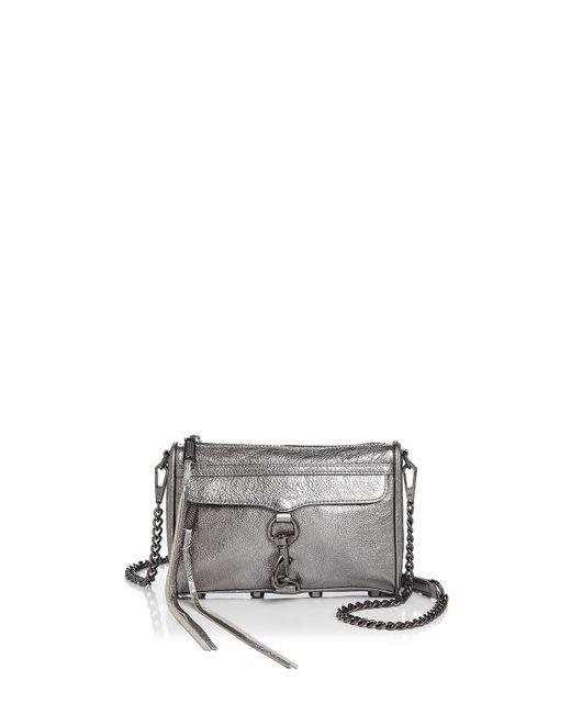 Rebecca Minkoff | Mini Mac Metallic Leather Crossbody | Lyst