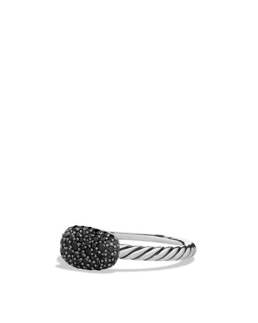 David Yurman - Metallic Petite Pavé Cushion Ring With Black Diamonds - Lyst