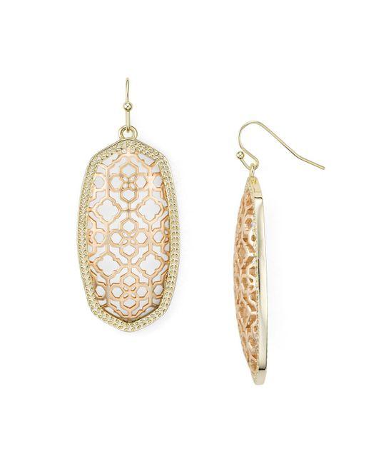 Kendra Scott | Metallic Filigree Elle Earrings | Lyst