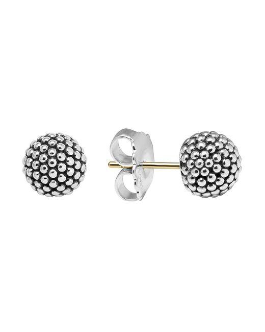 Lagos | Metallic Sterling Silver Beaded Earrings, 10mm | Lyst