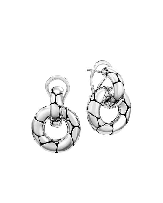 "John Hardy | Metallic ""kali"" Door Knocker Earrings 