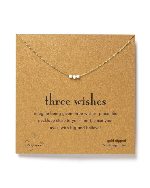 Dogeared | Metallic Three Wishes Necklace, 18"