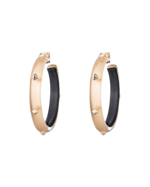 Alexis Bittar | Metallic Studded Hoop Earrings | Lyst