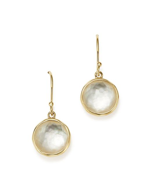 Ippolita | Metallic 18k Yellow Gold Rock Candy Mini Lollipop Earrings In Mother-of-pearl Doublet | Lyst