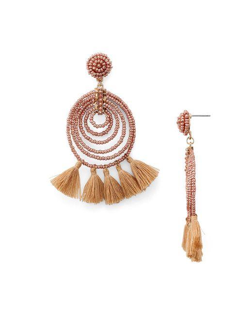Aqua   Pink Spiral Tassel Drop Earring   Lyst